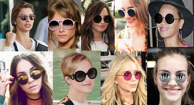 O óculos em formato redondo virou o must have da temporada!! Mulheres com  rosto redondo devem evitar esse modelo, para não acentuar a característica. 92b29f1da8