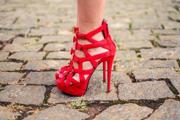 sandalia de salto gladiadora vermelha 2